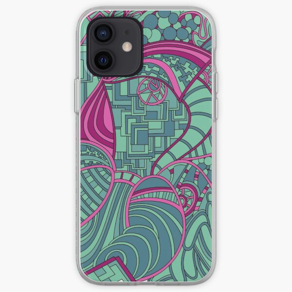 Wandering Abstract Line Art 48: Magenta iPhone Soft Case