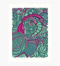 Wandering 48: color variation 3 Art Print
