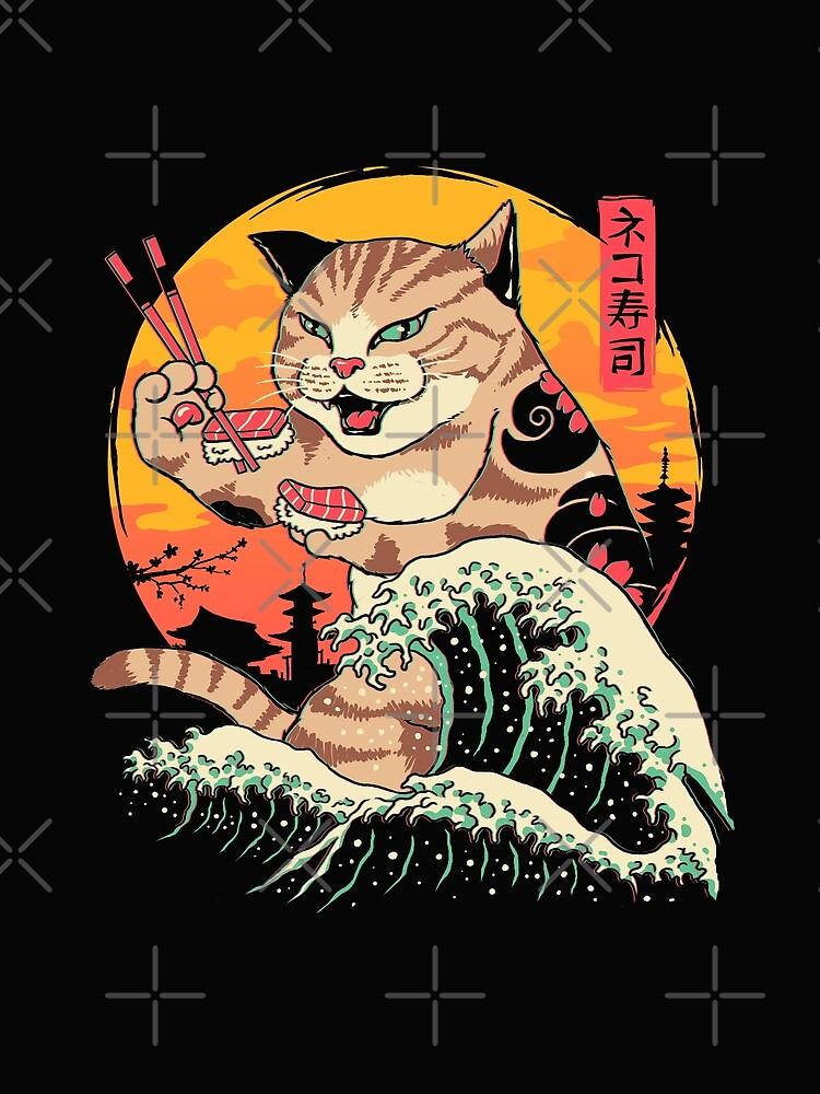 Neko Sushi Wave by vincenttrinidad