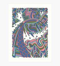 Wandering 49: color variation 1 Art Print