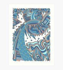 Wandering 49: color variation 2 Art Print