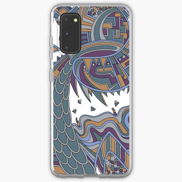 Wandering Abstract Line Art 49: Gold Samsung Galaxy Soft Case