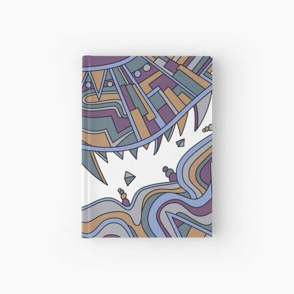 Wandering Abstract Line Art 49: Gold Hardcover Journal