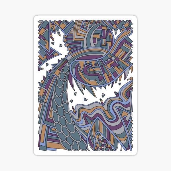 Wandering Abstract Line Art 49: Gold Sticker