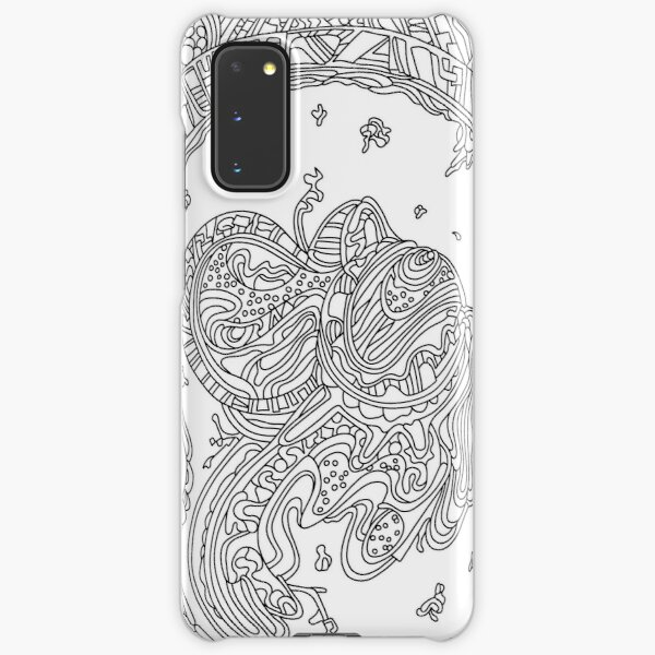 Wandering Abstract Line Art 50: Black & White Samsung Galaxy Snap Case