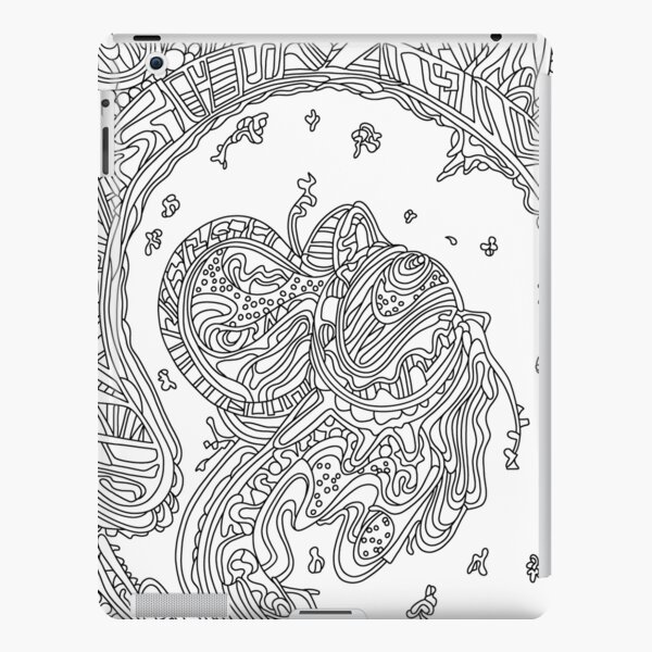 Wandering Abstract Line Art 50: Black & White iPad Snap Case