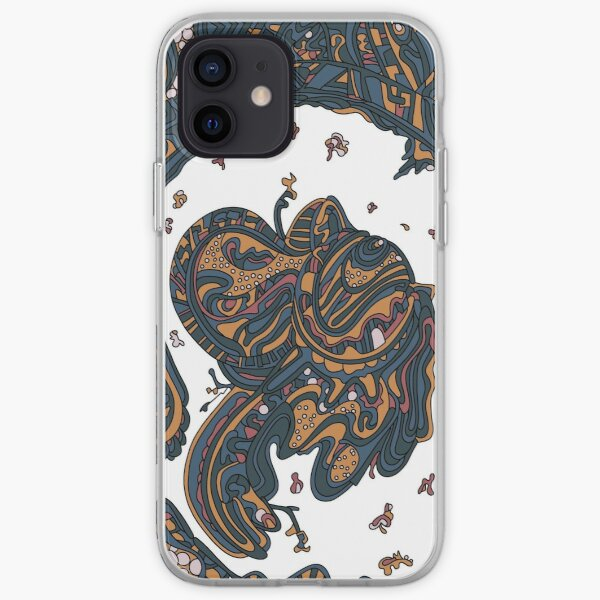 Wandering Abstract Line Art 50: Yellow iPhone Soft Case