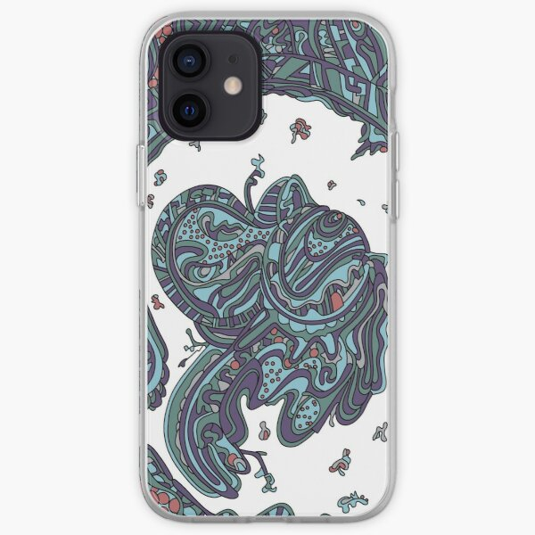 Wandering Abstract Line Art 50: Blue iPhone Soft Case