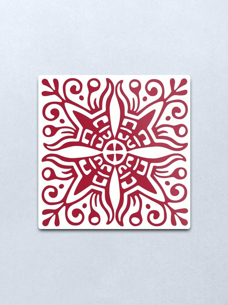 Alternate view of Cross Embellishment Metal Print