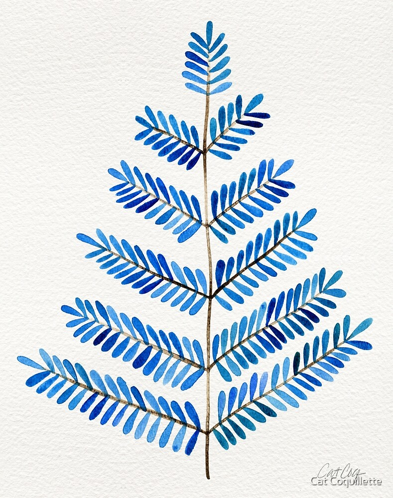 Blue Leaflets by Cat Coquillette