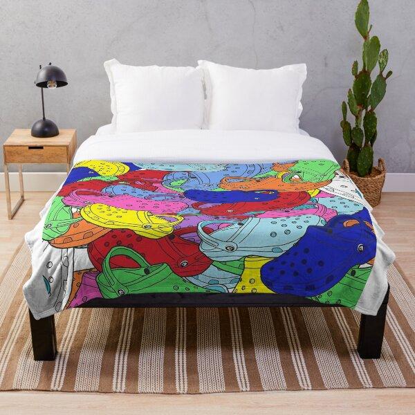 croc collage Throw Blanket
