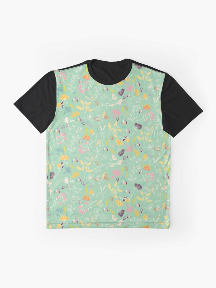 Alternate view of Sunshine at Forest floral pattern Graphic T-Shirt