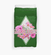 Garten mit rosa Blumen Bettbezug