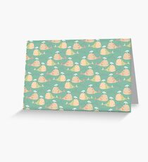 Whale Pattern Greeting Card