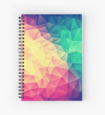 Abstract Polygon Multi Color Cubism Low Poly Triangle Design Spiral Notebook