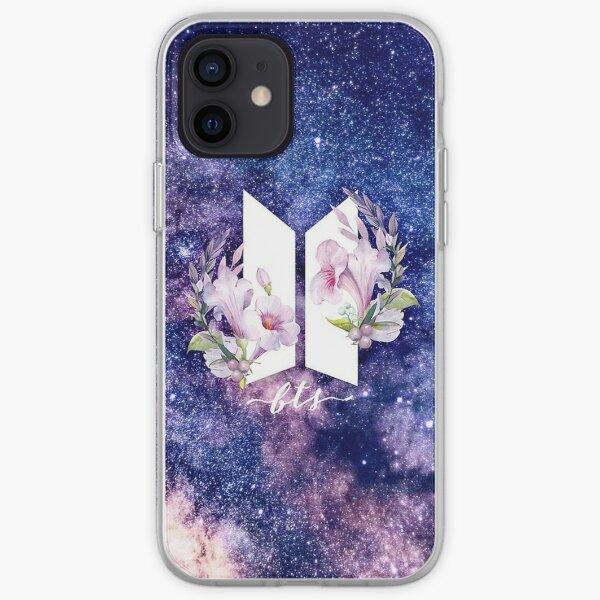 logo del grupo BTS Funda blanda para iPhone