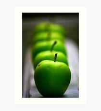 Green Apple, apple, apple... Art Print