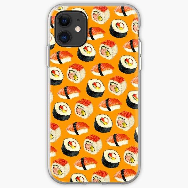 Sushi Pattern - Orange iPhone Soft Case