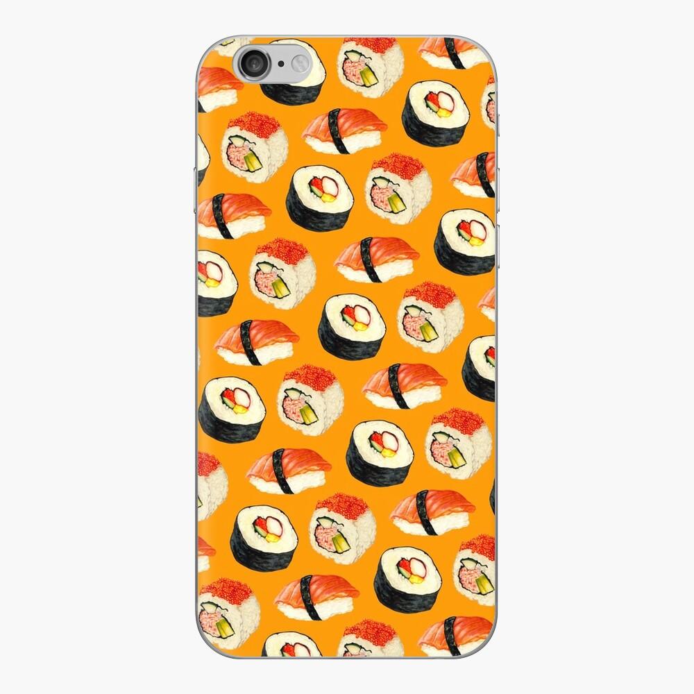 Sushi Pattern - Orange iPhone Skin