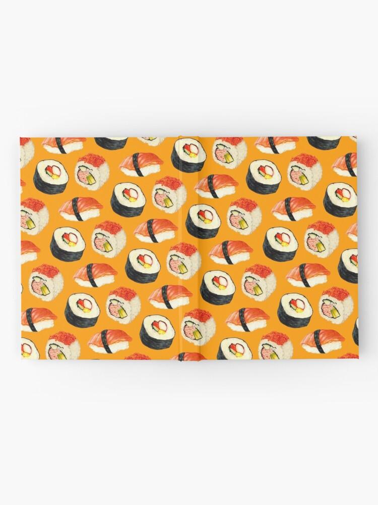 Alternate view of Sushi Pattern - Orange Hardcover Journal