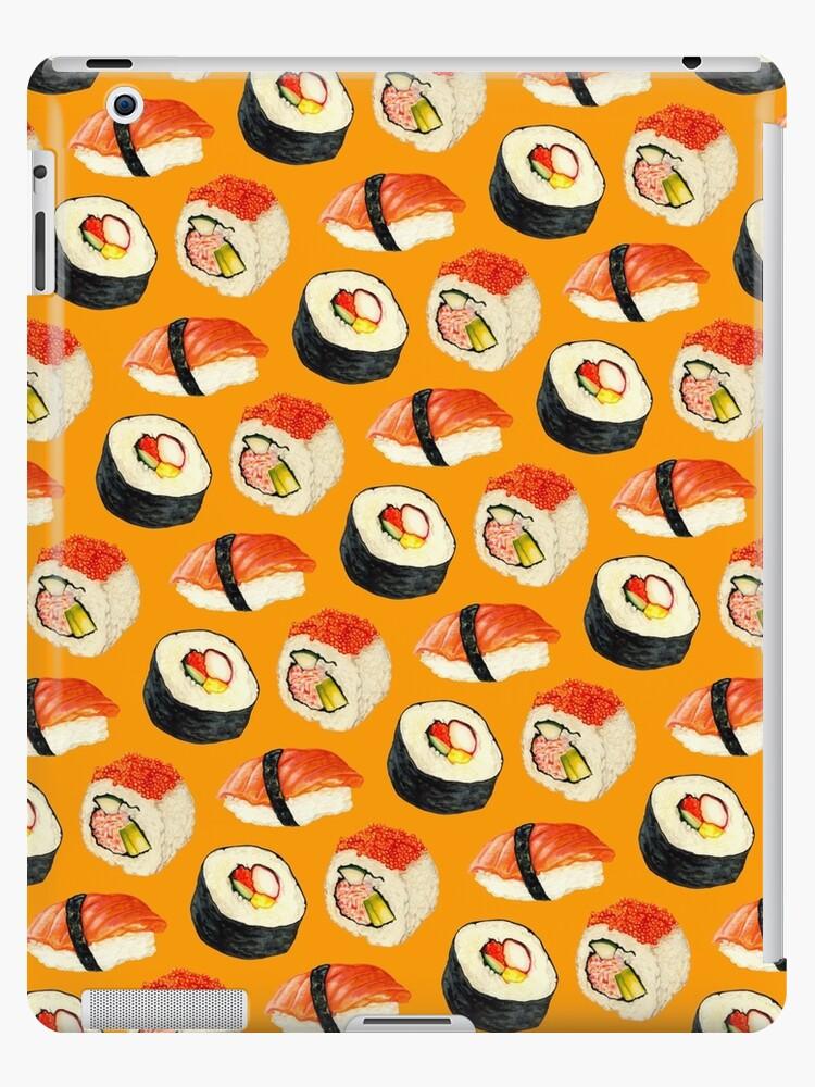 Sushi Pattern - Orange by Kelly  Gilleran