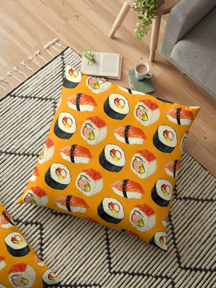 Sushi Pattern - Orange by Kelly  Gilleran