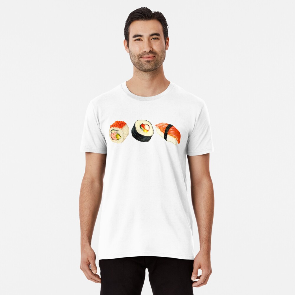 Sushi Pattern - Orange Premium T-Shirt