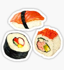 Sushi-Muster - Orange Sticker