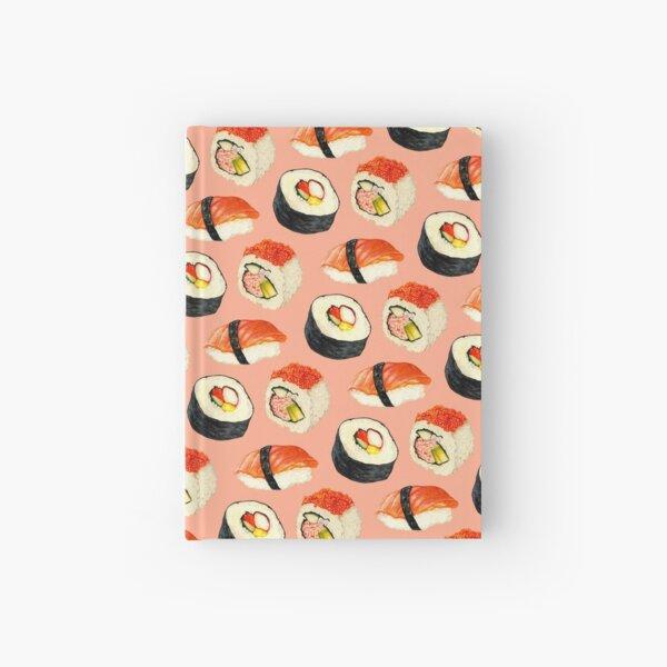 Sushi Pattern - Pink Hardcover Journal