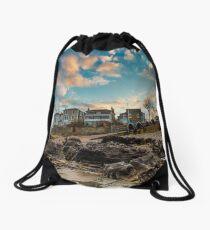 Sunset At Seaview Isle Of Wight Drawstring Bag