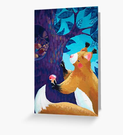 Thrifty Squirrel Greeting Card