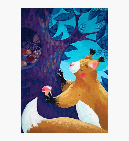 Thrifty Squirrel Photographic Print
