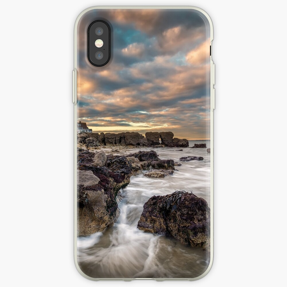 Rocky Beach Sunset At Seaview Isle Of Wight iPhone Cases & Covers