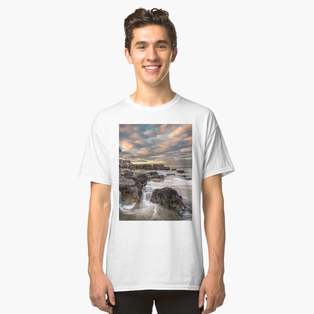 Rocky Beach Sunset At Seaview Isle Of Wight Classic T-Shirt