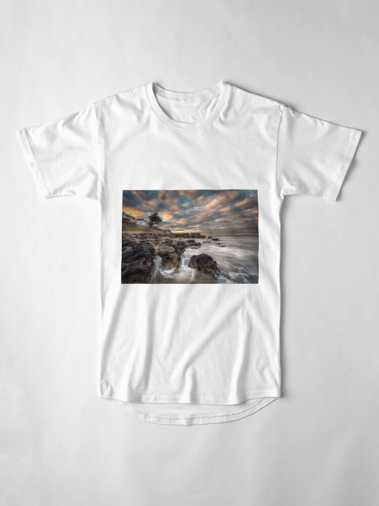 Alternate view of Rocky Beach Sunset At Seaview Isle Of Wight Long T-Shirt