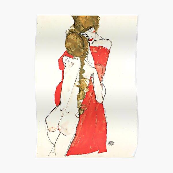 Egon Schiele Artwork & quot; Madre e hija & quot; Póster