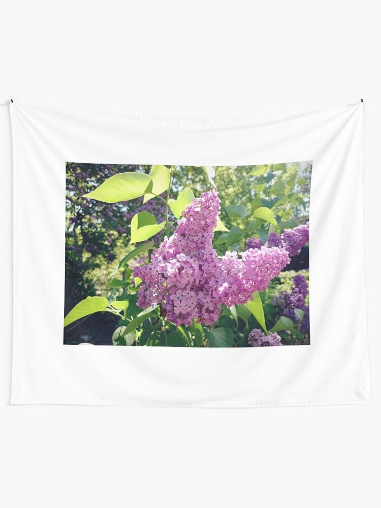 Alternative Ansicht von Flieder-Blüte Wandbehang