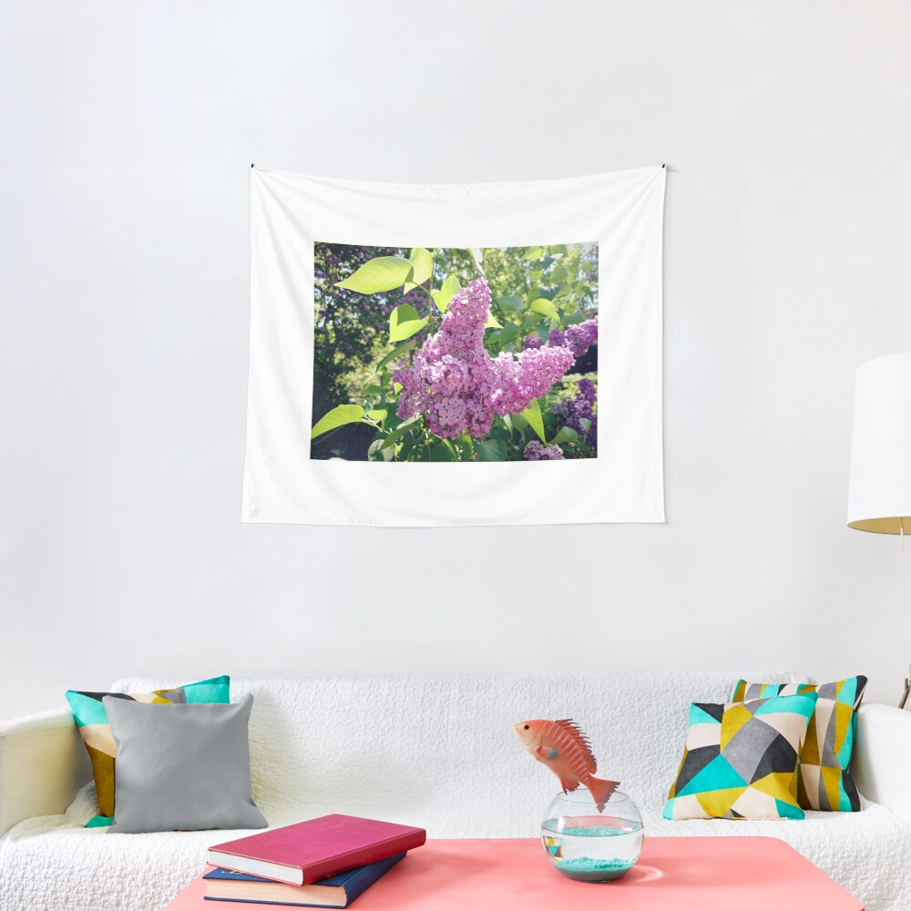Flieder-Blüte Wandbehang