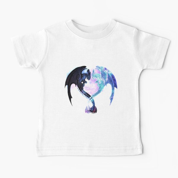 Dragon Heart Toothless and Light Fury Baby T-Shirt