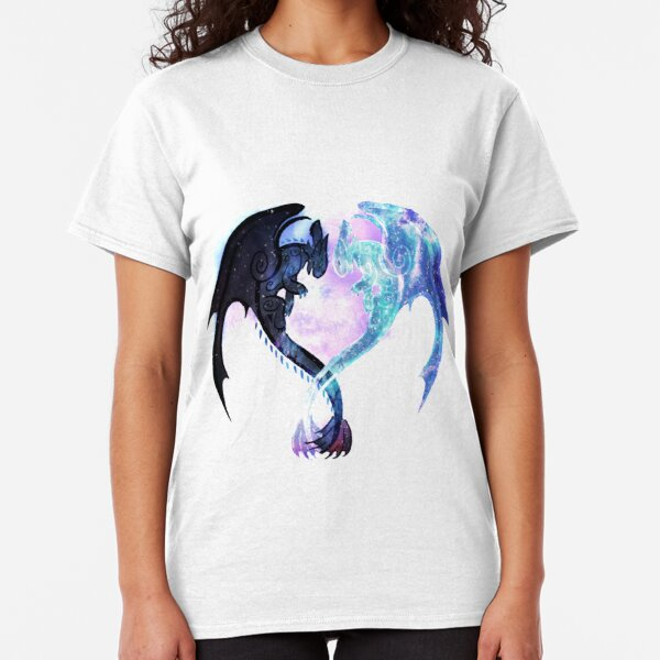 Dragon Heart Toothless and Light Fury Classic T-Shirt