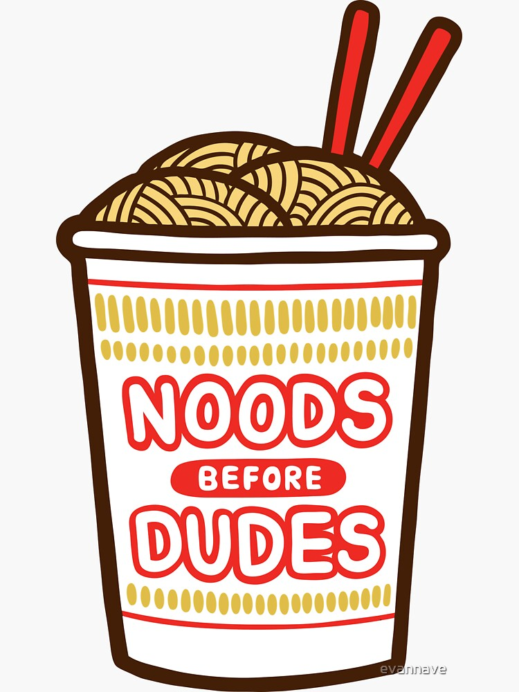 Noods Before Dudes in pink by evannave