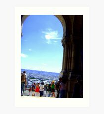 View over Paris from the doors of the Sacre Coeur! Art Print