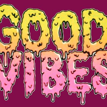 Good Vibes (In Pink and Yellow) by greyhoundredux