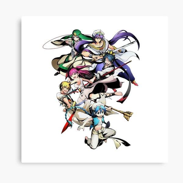 Magi: The Labyrinth of Magic Character Mashup Anime  Canvas Print