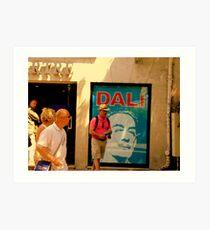 Dali Exposition in Montmarte yesterday!! Art Print