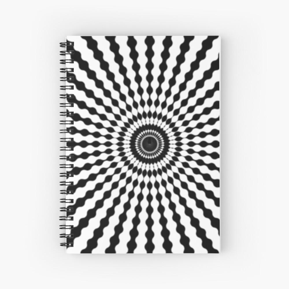 #monochrome #symmetry #circle #pattern design illustration abstract geometric shape Spiral Notebook
