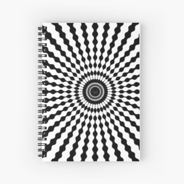 #monochrome #symmetry #circle #pattern design illustration abstract geometric shape Spiral Notebook