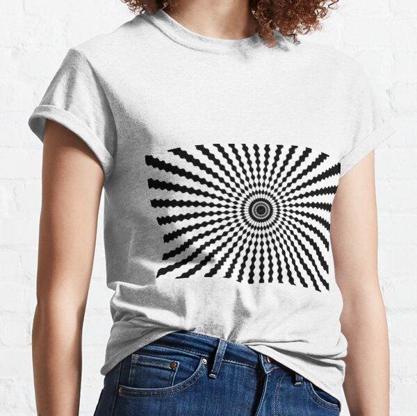 #monochrome #symmetry #circle #pattern design illustration abstract geometric shape Classic T-Shirt