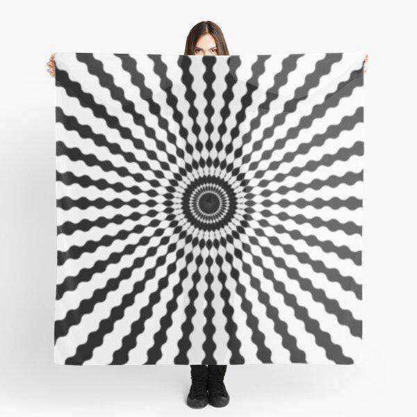 #monochrome #symmetry #circle #pattern design illustration abstract geometric shape Scarf