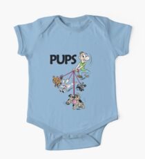 Dog Walker with Cute Puppies One Piece - Short Sleeve
